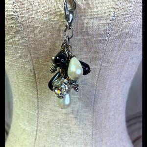 Jewel Kade Black and White Beaded Dangle Charm